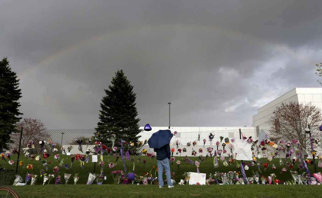 A rainbow appeared over Paisley Park Studios in Chanhassen, MN. Musician Prince was found dead at the site on Thursday morning. ] CARLOS GONZALEZ cgonzalez@startribune.com - April 21, 2016, Chanhassen, MN, Prince Rogers Nelson (57) found dead at Paisley Park Studios in Chanhassen, MN.