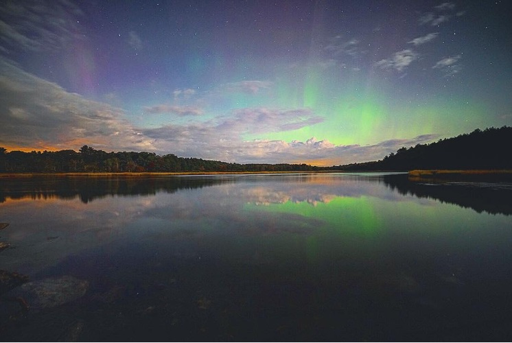 Aurora in Bath, Maine on 9-7-17.